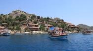 Voyage. Turkey, Kekova-Simena Region (Apollonia), Western Taurus Stock Footage