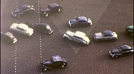 Traffic Cars AVENUE DES CHAMPS-ELYSEES Paris 1950s (Vintage 8mm Home Movie) 301 Stock Footage
