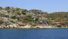 Voyage. Turkey, Kekova-Simena Region (Apollonia), Western Taurus - stock footage