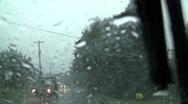Rain drive 4 Stock Footage