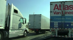 I95 traffic jam5 Stock Footage