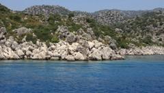 Voyage. Turkey, Kekova-Simena Region, Western Taurus - stock footage