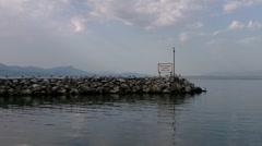 Lake Geneva Lac Leman 12 boat Stock Footage