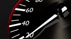 newly designed speedometer - stock footage