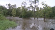 Stock Video Footage of Post Hurricane Flooding (pan 2 of 2)