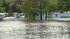 Mobile Home Flooded (3 of 5) - stock footage