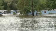 Mobile Home Flooded (3 of 5) Stock Footage