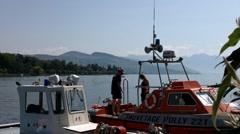 Lake Geneva Lac Leman Port 01 Stock Footage