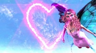 Stock Video Footage of Fantasy fairy painting a hearth on the sky and fly film end