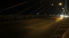 Car traffic on bridge Stock Footage