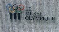Lausanne Olympic Museum Switzerland 06 pans Stock Footage