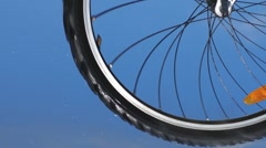 Bicycle wheel - stock footage