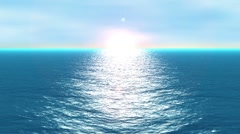 Stock Video Footage of ocean horizon