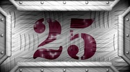 25 on steel stamp Stock Footage