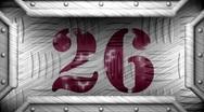26 on steel stamp Stock Footage