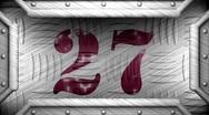 27 on steel stamp Stock Footage