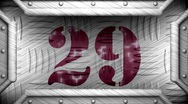 29 on steel stamp Stock Footage