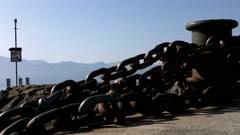 Pier in Lausanne Switzerland Stock Footage