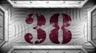 38 on steel stamp Stock Footage