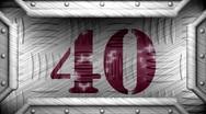 40 on steel stamp Stock Footage