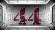 44 on steel stamp Stock Footage