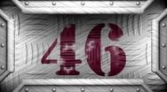 46 on steel stamp Stock Footage