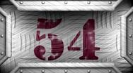 54 on steel stamp Stock Footage