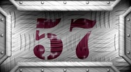 57 on steel stamp Stock Footage