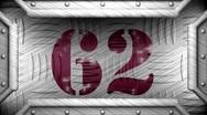 62 on steel stamp Stock Footage