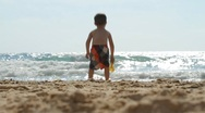 Stock Video Footage of Boy on the beach