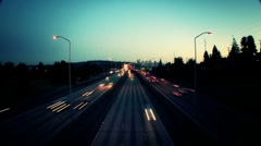 Dramatic freeway Stock Footage