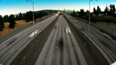 Freeway wide angle lens Stock Footage