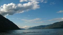 Teletskoe lake, Altai, Russia Stock Footage