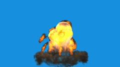 3D Explosion_01 Stock Footage