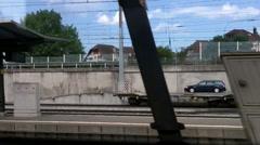 Looking Through Train Window Switzerland 06 Stock Footage