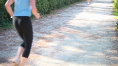 Jogging at park  Stock Footage