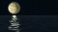 Moon ocean Stock Footage
