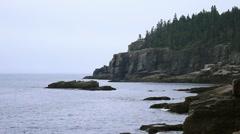 North East Coast Ocean Maine _20 Stock Footage