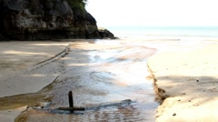 Stream on Borneo beach Stock Footage