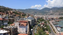 Seacoast, Alanya, Turkey Stock Footage