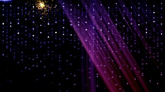 curtain star rain background - stock footage