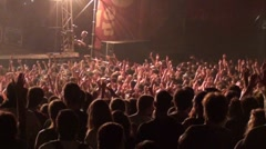 Crowd at a rock concert - stock footage