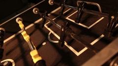 Foosball table game dark swing in slide P HD 9563 Stock Footage