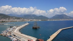Seaport, Alanya, Turkey - stock footage