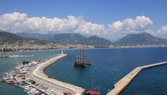 Stock Video Footage of Seaport, Alanya, Turkey