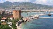 Old fortress, Alanya, Turkey Stock Footage