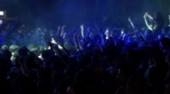 Crowd at a rock concert Stock Footage