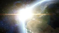 Earth + lensfx sun Stock Footage