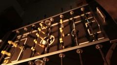 Foosball game dark slide in P HD 9560 Stock Footage