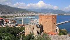 Old fortress, Alanya, Turkey Stock Footage